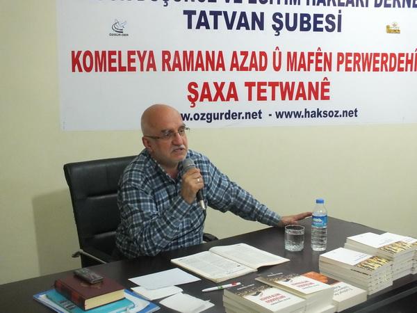 Tatvan'da ''İntifada Süreçlerinin Muhasebesi'' Semineri
