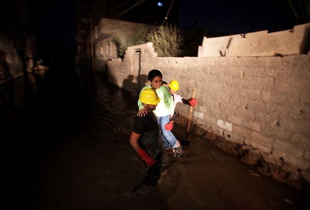 Gazze'de Onlarca Ev Kanalizasyon Suları Altında