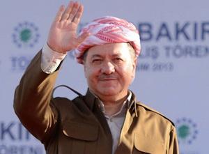 """Barzani'den Diyarbakır'da """"Barış"""" Mesajı"""