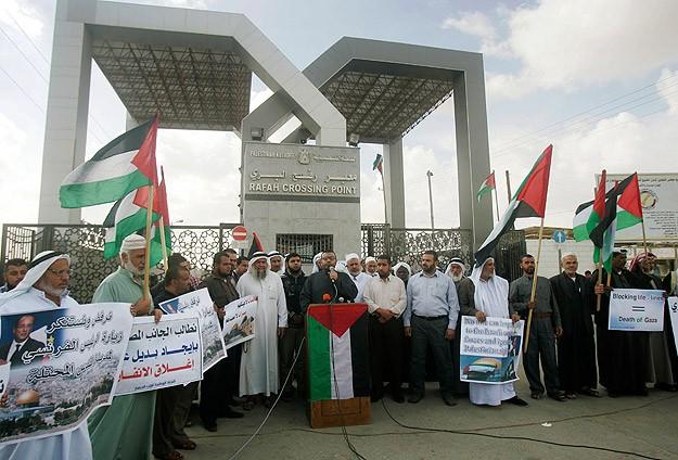 Refah'ta Sınır Kapısı Protestosu