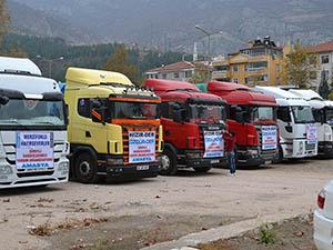 Amasya'dan Suriye Halkına 6 Tır Yardım