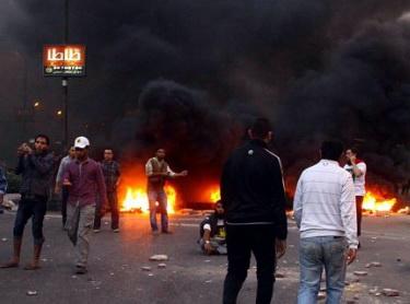 Rabia Katliamının 100. Günü Gösterilerinde Çatışma (FOTO)