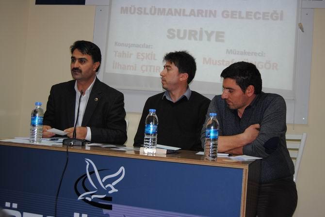 """Özgür-Der Çorum'da """"Suriye"""" Paneli"""