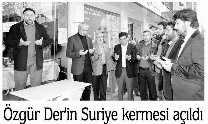 Özgür-Der'in Suriye Kermesi Açıldı