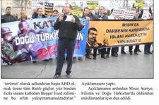 Özgür-Der, Müslüman Ülkelerde Yaşanan Olaylarını Protesto Etti