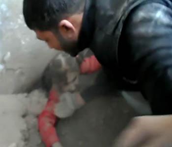 Halep'te Katliam; Yine Siviller Bombalandı (VİDEO)