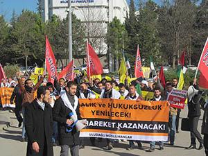 Uludağ Üniversitesi Öğrencileri Mazlum Halklar İçin Yürüdü