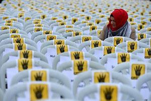 """Rabia Platformu'ndan """"Sessiz Sandalye"""" Eylemi"""