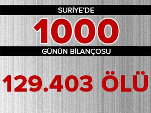 Suriye'de 1000 Günün Bilançosu: 129 Bin 403 Ölü
