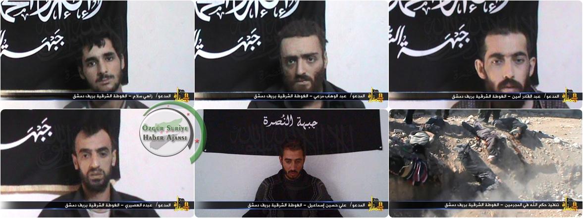 Nusret Cephesinin Şam Kırsalı Çatışmaları Bildirisi