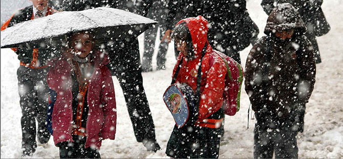 Birçok İlde Eğitime Kar Engeli