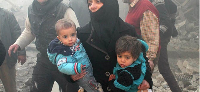 Halep Bugün de Varil Bombalarıyla Vuruldu
