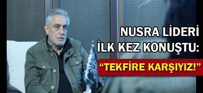 Nusra Lideri İlk Kez Konuştu