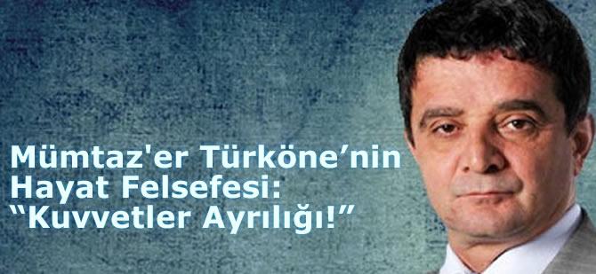 """Türköne'nin Hayat Felsefesi: """"Kuvvetler Ayrılığı!"""""""