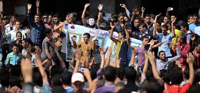 Mısır'da Üniversite Öğrencilerinden Protesto