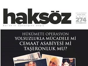 Haksöz Dergisinin Ocak 2014 Sayısı Çıktı