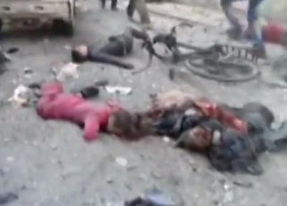 Çocukları Bombaladılar; Fırını Bombaladılar! (VİDEO)
