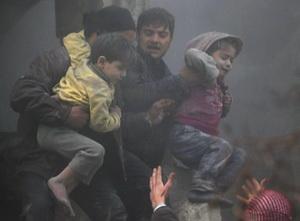 Suriye'de 20'si Kadın 14'ü Çocuk 129 Şehit (VİDEO)