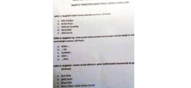 Ankara Üniversitesindeki Sınavda Tuhaf Sorular