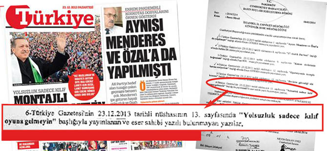 Erdoğan'ın Sözünü Manşete Taşıyana Dava