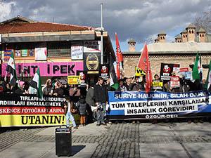 Bursa'da İşkenceci Baas Protestosu