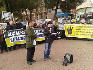 İşkenceci Baas Rejimi Akhisar'da Protesto Edildi