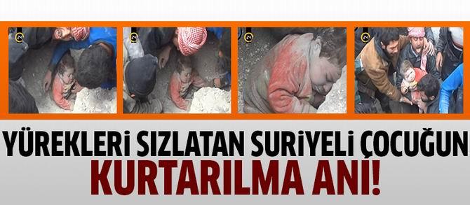 Suriyeli Çocuğun Kurtarılma Anı (VİDEO)