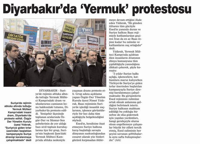 Diyarbakır'da 'Yermuk' Protestosu