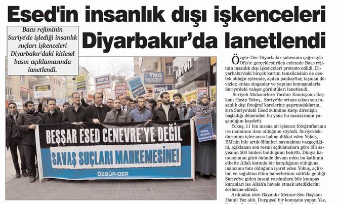 Diyarbakır'dan Esed'e Lanet