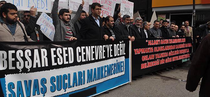 Diyarbakır'daki 72 Kurumdan Esed'in İşkencelerine Lanet