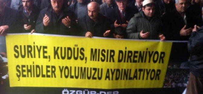 Ankara'da Şehitler İçin Gıyabi Cenaze Namazı