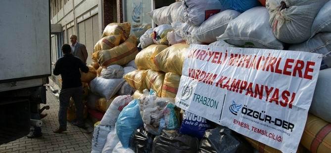 Eynesil Özgür-Der'den Suriye'ye 1 Tır Yardım Malzemesi