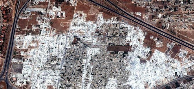 'Suriye'de Yedi Bölge Yerle Bir Edildi'