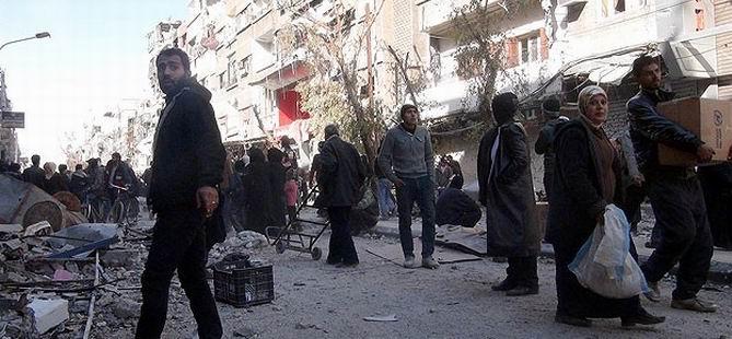 Yermuk'ta Yardım Dağıtımı Sırasında Silah Sesleri