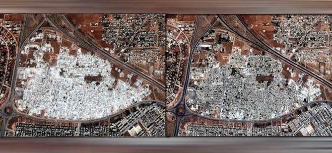 Uydu Resimleri İle Suriye'de Baas Yıkımı