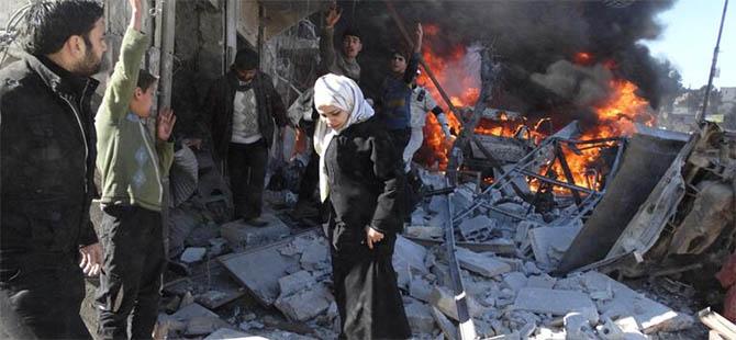 Halep'te Kalanlar Varil Bombaları Altında