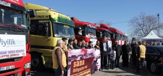 İyilikder 17 TIR'lık Yardımı Suriye'ye Gönderdi!