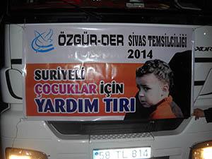 Sivas'tan Suriyeli Çocuklara Yardım Tırı