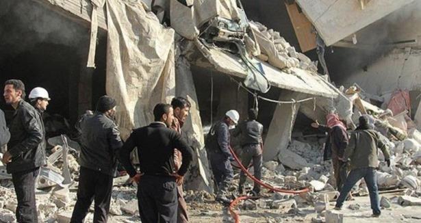 Esed Yine Varil Bombasıyla Vurdu (VİDEO)