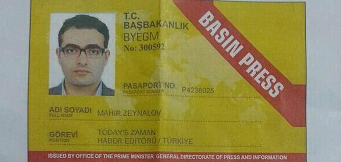 BYEGM, Zeynalov'un  Basın Kartı Olmadığını Belirtti