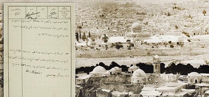 Filistin 101 Yıl Önce Satın Alınmak İstenmiş