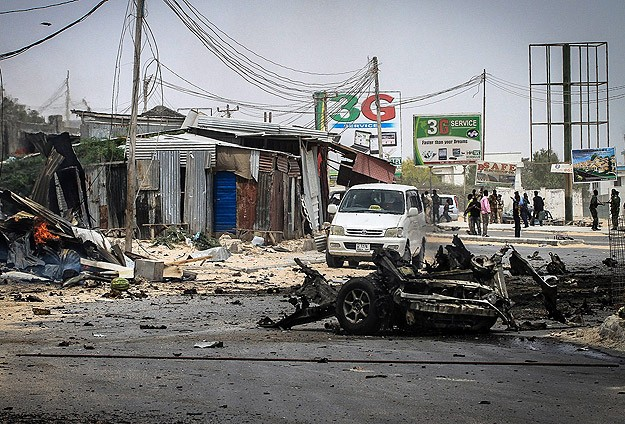 Mogadişu Havaalanı Önünde Patlama