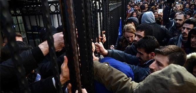 Marmara Üniversitesi'nde Gezi Provakasyonu