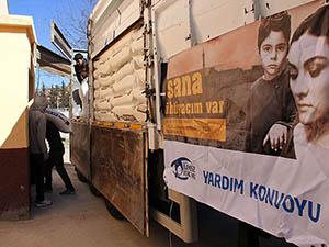 Yardımlar Lazkiye ve İdlib'e