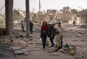 Rejimin  Şam ve Halep'te Hava Saldırısı