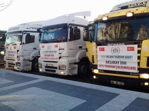Aksaray ve Konya'dan Suriye'ye 15 Tır Yardım