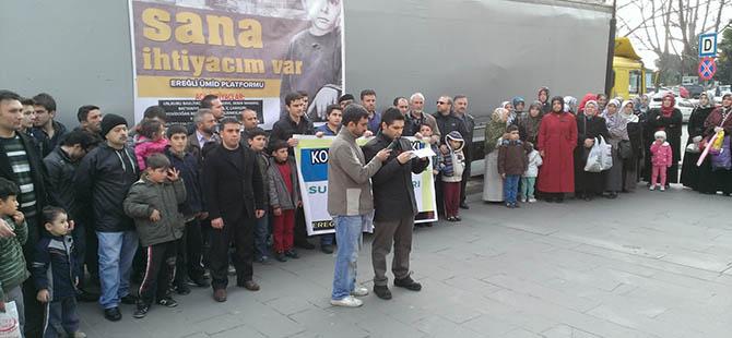 Ereğli'den Suriye'ye 1 Tırlık Yardım