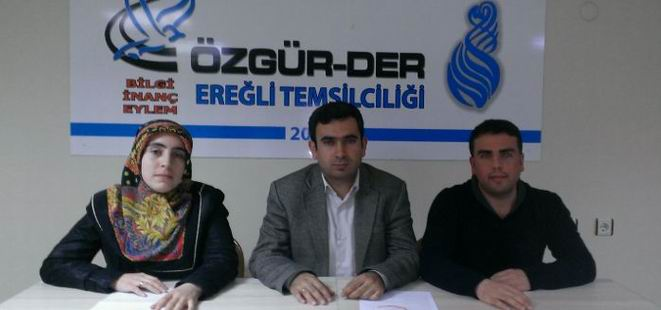 """Özgür-Der Ereğli: """"28 Şubatın Failleri Cezalandırılsın!"""""""
