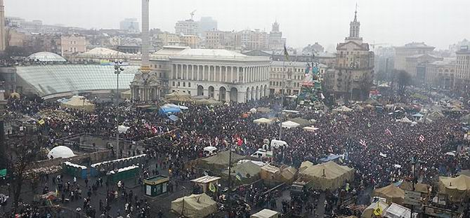 "Ukrayna'da Rusya Karşıtı ""Halk Mitingi"""