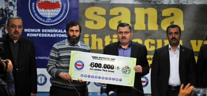 Toplanan 600 Bin İHH'ya Teslim Edildi